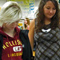Science teacher Reyne Armbrust helps a student rank objects by size during a lab